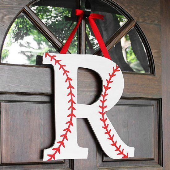 How to make a baseball or softball monogram wreath