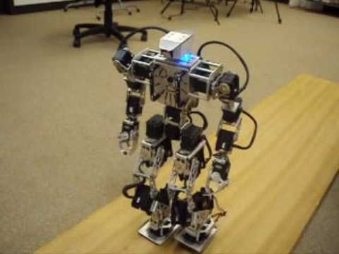 Android controlled 17 dof biped robot arduino + ssc-32 + JY-MCU - YouTube