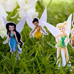 Tinker Bell and Friends Playset - make into magnets for the cookie sheet for our roadtrips
