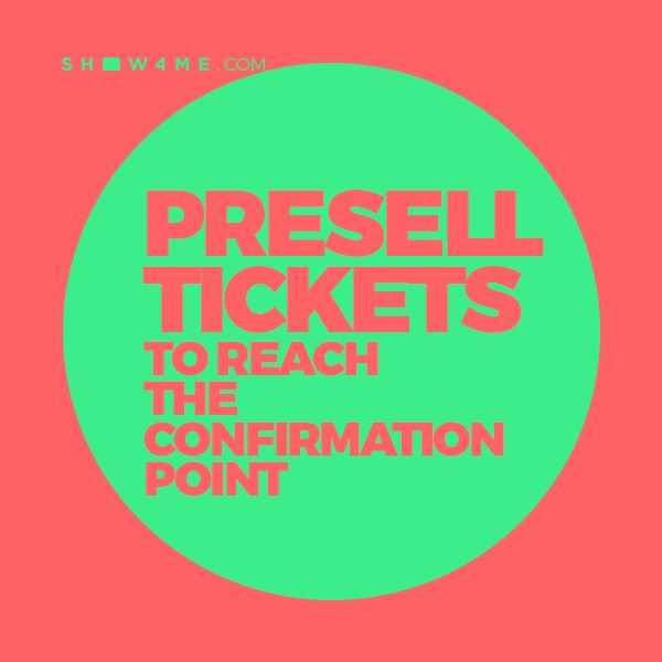 Presell tickets on Show4me platform before campaign reaches its confirmation point and get the first pay-out or get your money back without any risks.   Find more information here:https://www.show4me.com/for_organizers/?utm_content=buffer6cdde&utm_medium=social&utm_source=pinterest.com&utm_campaign=buffer  #show4me #concertcrowdfunding #eventcrowdfunding #crowdfunding #promoter