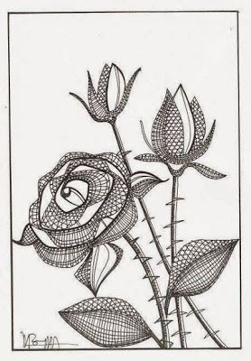 filigree zentangle | Picasa Albums Web Lace bobbin: rose: Bobbin, Patrones Comprados, The ...