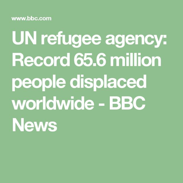 UN refugee agency: Record 65.6 million people displaced worldwide - BBC News