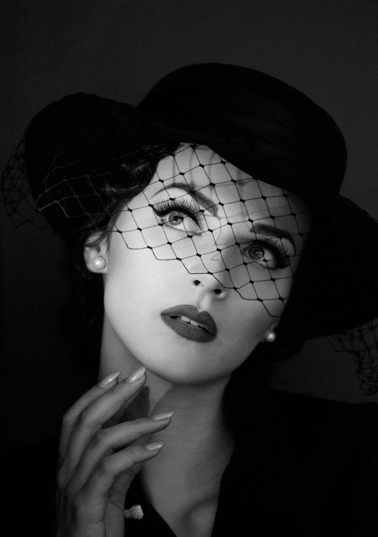 veil hat femme fatale lady woman girl fashion. Black Bedroom Furniture Sets. Home Design Ideas