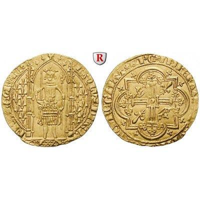 Frankreich, Charles V., Franc à pied o.J. (1365), f.vz: Charles V. 1364-1380. Franc à pied o.J. (1365). Stehender König mit Schwert… #coins