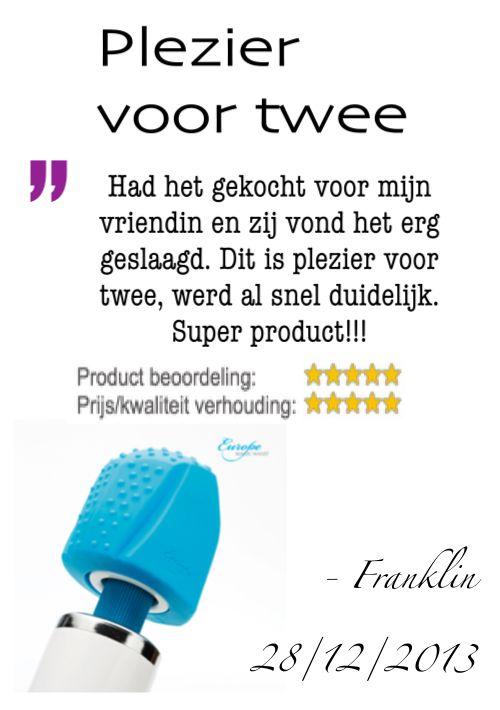 """""""Had het gekocht voor mijn vriendin en zij vond het erg geslaagd. Dit is plezier voor twee, werd al snel duidelijk. Super product!!!"""" - Franklin do 28/12/2013, Dutch owner of #EuropeMagicWand wand massager. #10outof10 stars for @EuropeMagicWand. Get more info at www.europemagicwand.nl"""