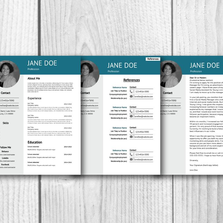 This Professional Resume Set comes with everything you