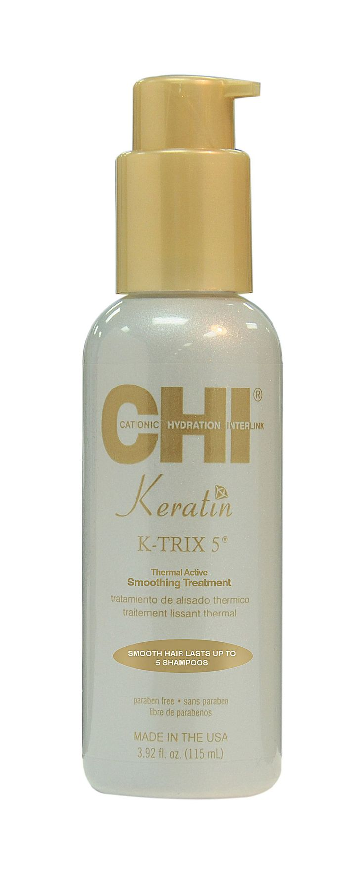 CHI Keratin K-TRIX 5 Thermal Active Smoothing Treatment 115ml,