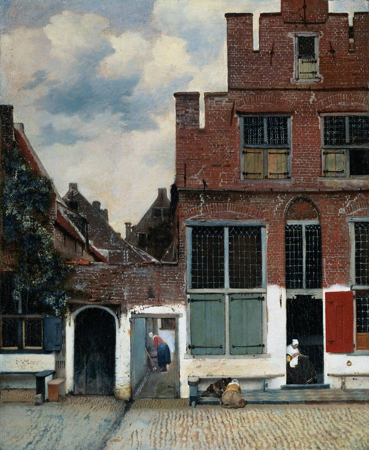 Stunning Vermeer - makes me want to go to Delft again (although no one knows where this is).