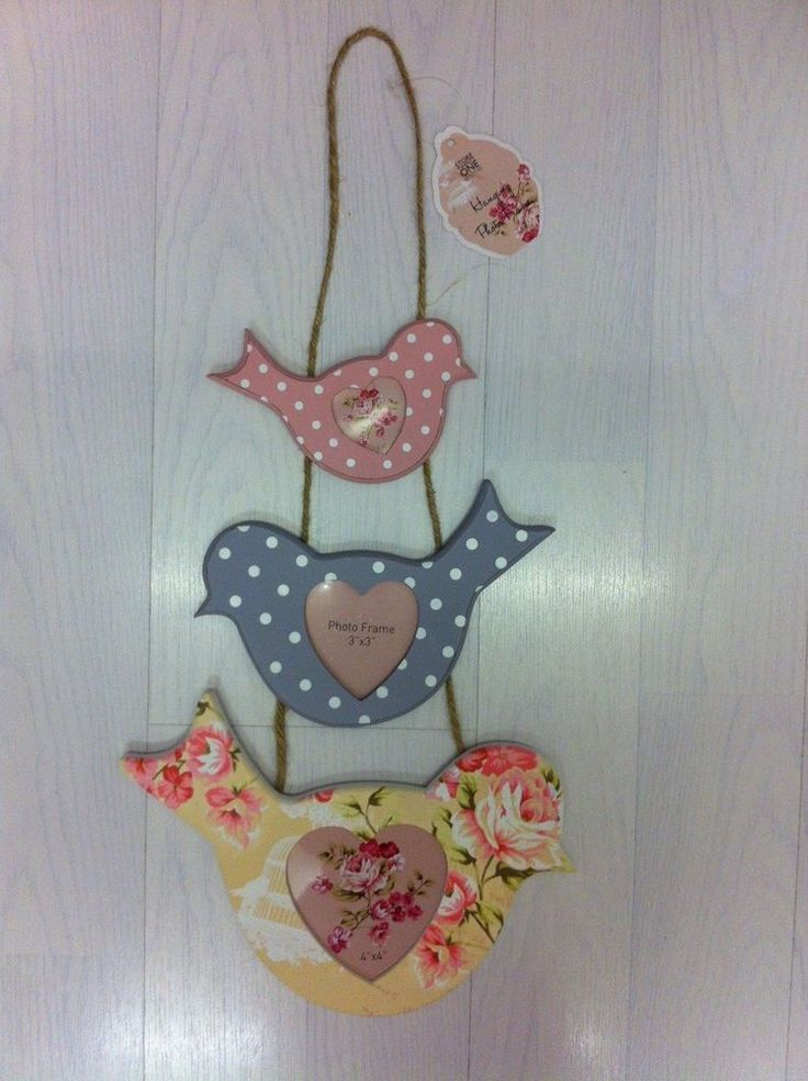 Pretty hanging birds PHOTO FRAMES. Modern and stylish! Perfect gift BNWTO