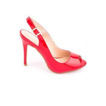 Ψηλό Πέδιλο T320-20 Κόκκινο #ψηλοτακουνο #πέδιλο #κοκκινο #λουστριν #summer #fashion #for #women #olympic_stores