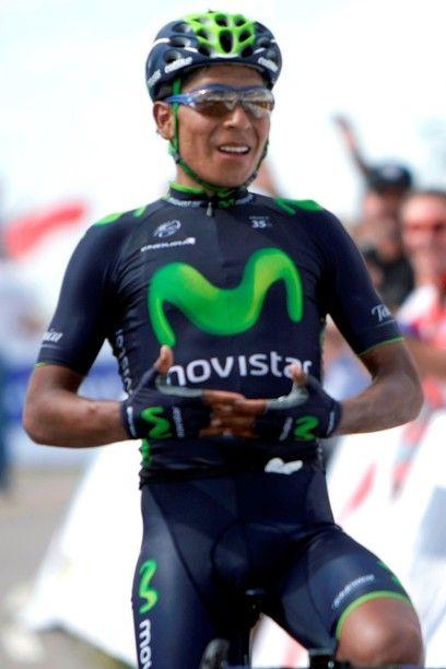 El colombiano que llevó el jersey amarillo, Jairo Quintana