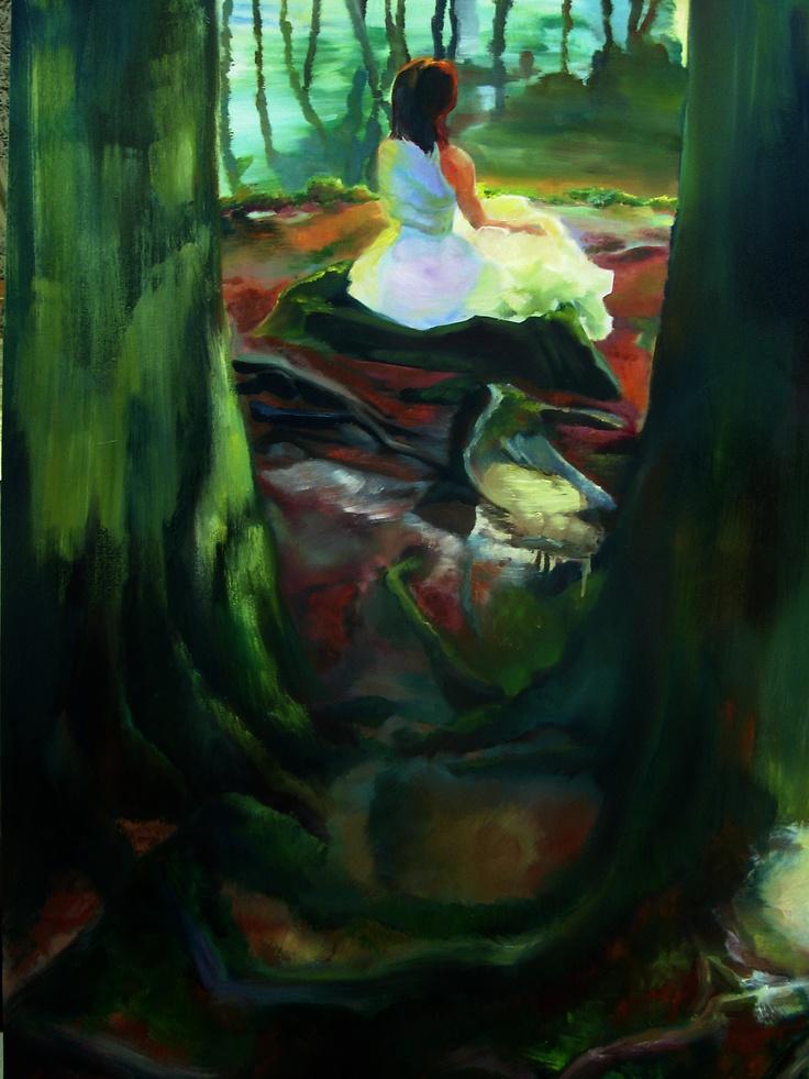 El río. Óleo sobre lienzo. Ledicia Bellón.