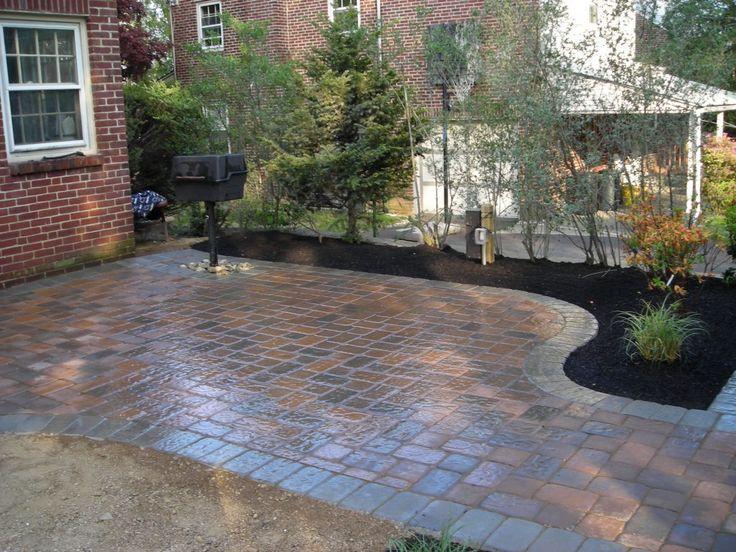 patio design ideas with pavers | Download Wallpaper Patio Ideas 1024x768 Backyard Paver Patio ...
