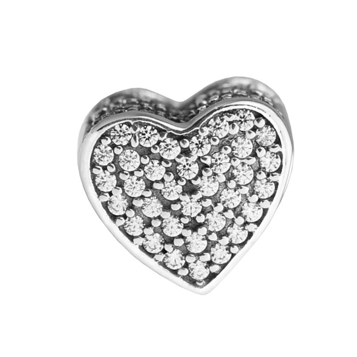>> Click to Buy << Fits Pandora Bracelet Love charm and Clear CZ Newest Original 100% 925 Sterling Silver Encantos Charms DIY mother's day making #Affiliate