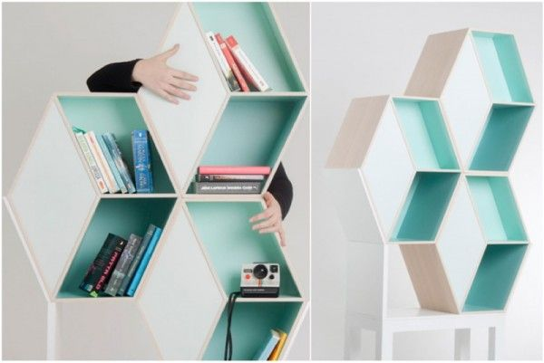 Creative bookshelves modern modular fascinating Leicht Grün