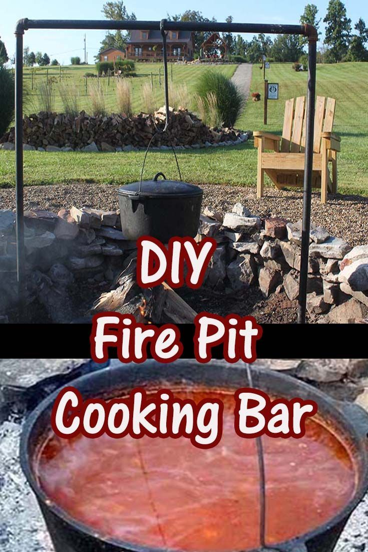 The Diy Open Fire Cooking Bar A Simple Solution For Fire Pit Cooking Firepit Campfire Campfirecookin Fire Pit Cooking Open Fire Cooking Fire Pit Backyard
