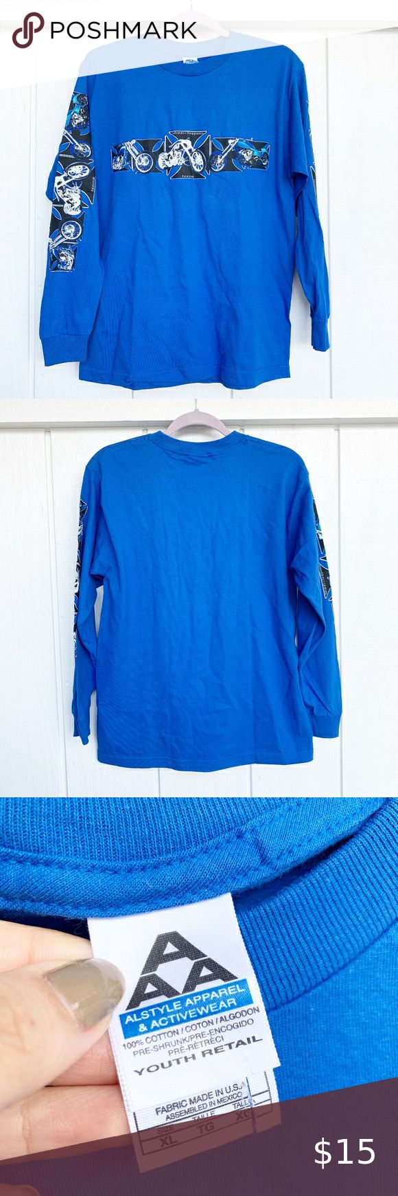 Sale Alstyle Apparel Activewear Top Youth Xl Alstyle Apparel Active Wear Tops Long Sleeve Tees