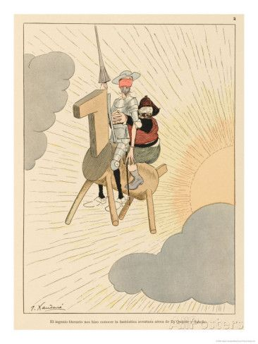[X] Don Quijote and Sancho Take to the Air on a Flying Machine in the Shape of a Horse, Xaudaro Joaquin