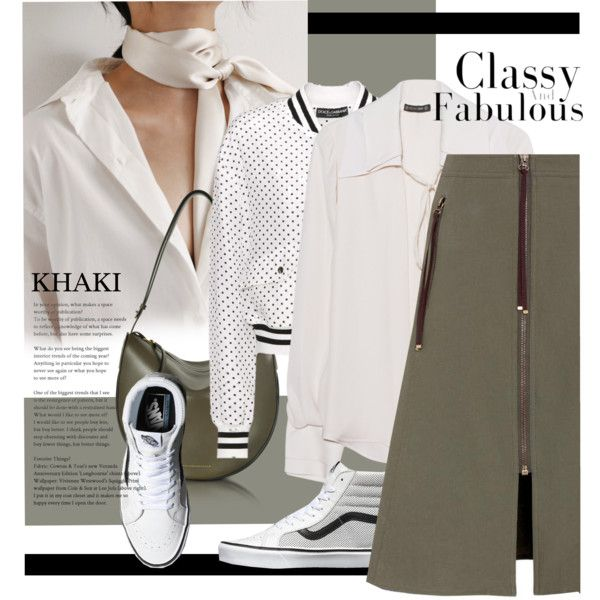 A fashion look from April 2017 by laste-co featuring Plein Sud, Dolce&Gabbana, Kenzo, Victoria Beckham i khaki