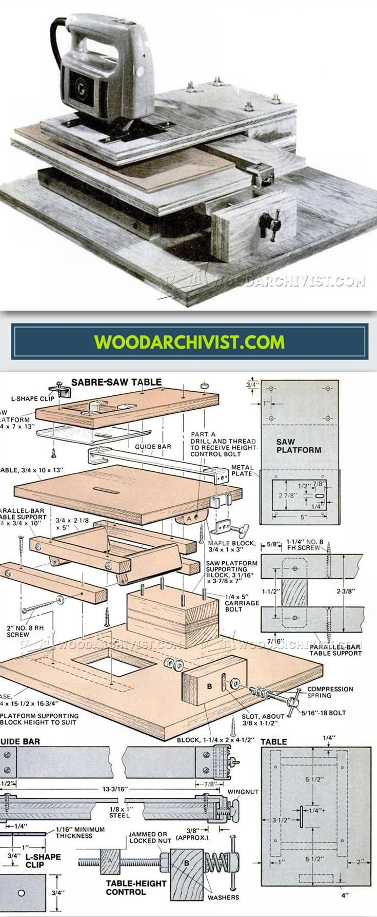 DIY Jig Saw Сircular Saw - Jig Saw Tips, Jigs and Fixtures   WoodArchivist.com