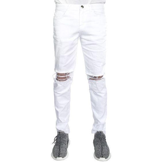 White Jeans Ripped For Men | White Jeans For Men
