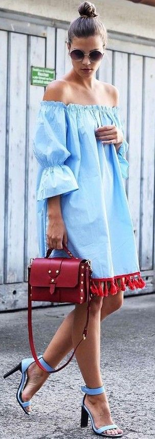 Tassel Bardot Dress                                                                             Source