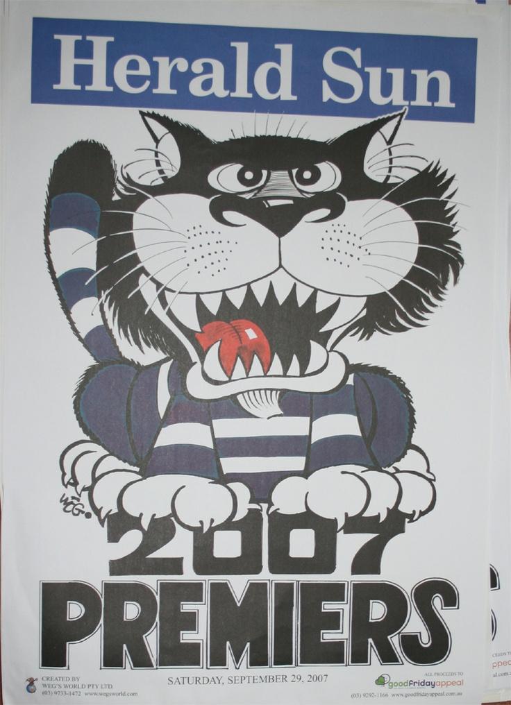 Weg Premiers Poster 2007 Geelong Cats