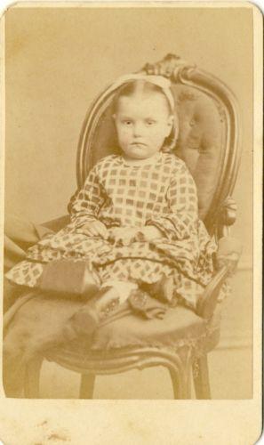 1870s Antigua Victoriana Antique Victorian Carta De Vista Carte Visite Foto Chica Linda Poco