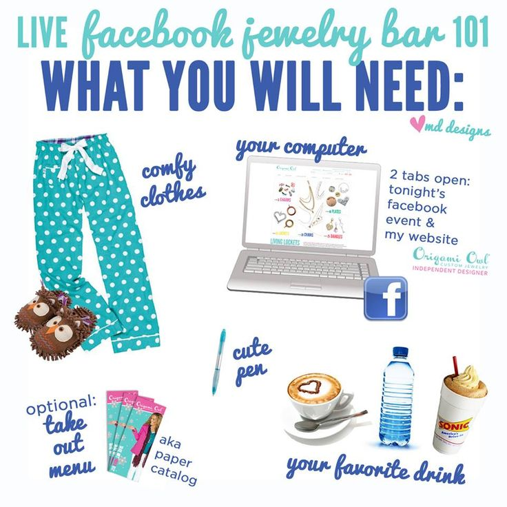 "Get ready to host a ""live"" online Jewelry bar and earn free jewelry as you sit in the comfort of your home in your PJ's!  Your friends can attend too from their couch. PM me or text me. Deb @ debbates101@yahoo.com 314.368.1212"