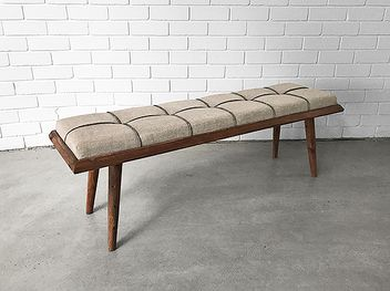 Scandinavian bench seat that combines style and comfort to perfection . Mid century styled alternative to the stock standard.