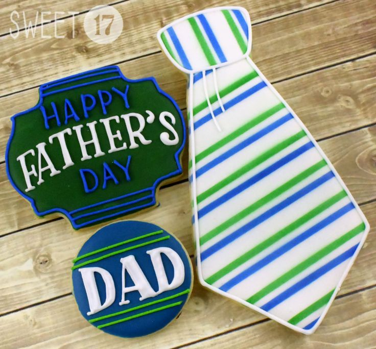Father's Day Sugar Cookies Sweet17Cookies.Etsy.com