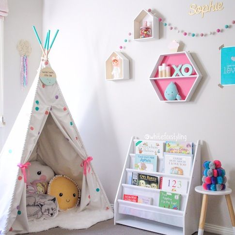 Little girls bedroom by Jen at White Fox Styling - as seen on BABY BERRY - www.babyberry.co.nz