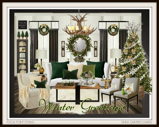 FOCAL POINT STYLING: FABULOUSLY FESTIVE - HOLIDAY VIRTUAL ROOM DESIGNS CONTEST - Sponsored by Homes.com on Olioboard - Winter Greetings - by Lynda Quintero-Davids of Focal Point Styling