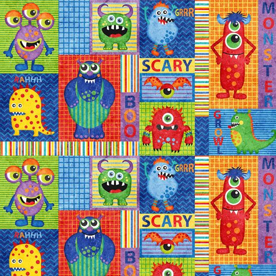 697 best my fabric stash images on pinterest quilting for Baby monster fabric