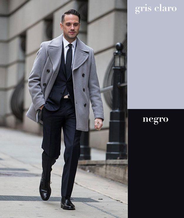 Gris claro   negro | 17 Combinaciones de color que todo hombre puede usar