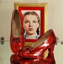 Wizard Of Oz Painted Shoes | Replica of Judy Garland's Ruby Slippers in The Wizard of Oz