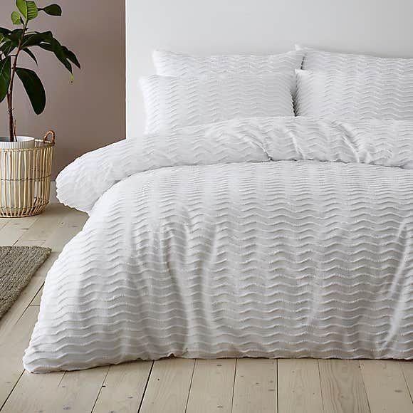 Arlo White 100 Cotton Duvet Cover And Pillowcase Set Duvet Sets 100 Cotton Duvet Covers Cotton Duvet Cover