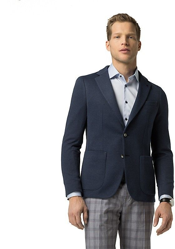 Tommy Hilfiger Final Sale-Tailored Collection Slim Fit Cotton Blazer