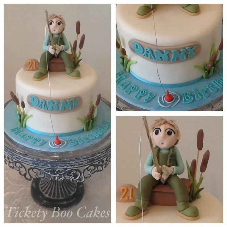 Fisherman birthday cake