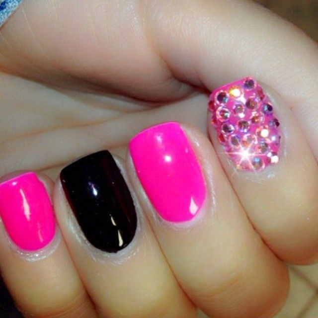 I'm not sure about the black nail but this sure is different