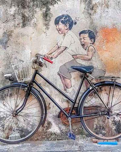 Georgetown, Malásia. O país explora bem a arte de rua em suas cidades. Foto: Instagram @adri.lage Clique na foto para saber mais.