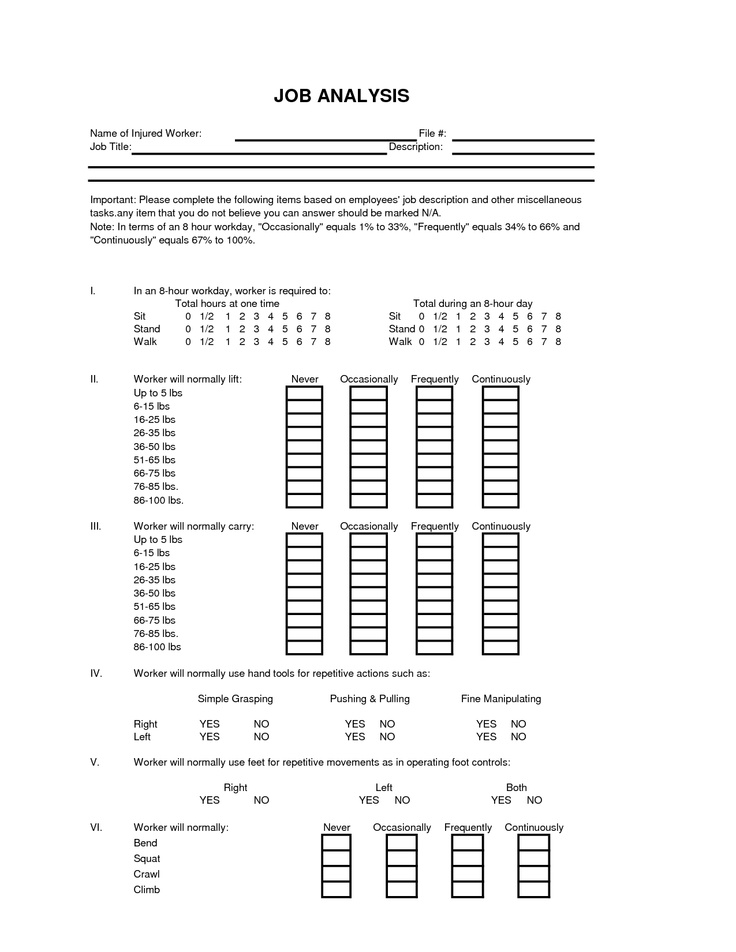 Job Safety Analysis Template Job Safety Analysis Forms Job Safety - jsa form template