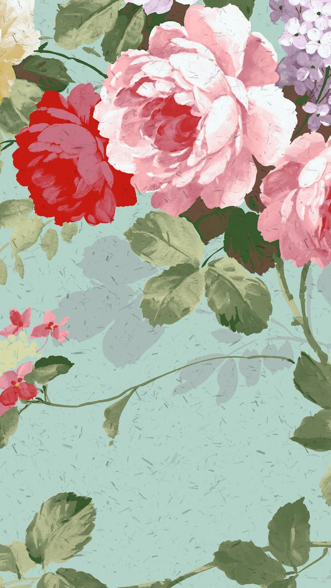 برعم زهرة مصنع نسيج الخلفية Floral Background Art Painting