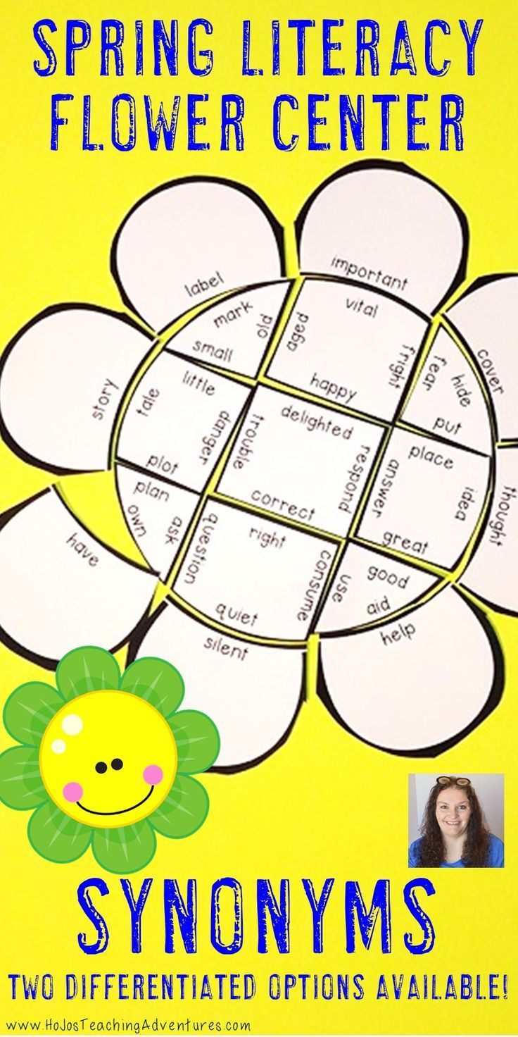 These Synonym Flower Puzzles are great for spring ELA literacy centers, review, early & fast finishers, enrichment, GATE, & critical thinking skills. Great for a lesson in perseverance. With this fun game format your students will stay engaged while practicing necessary skills! Use them in your second, third, fourth, or fifth grade classroom or home school! Low prep - just print, cut, and go! {2nd, 3rd, 4th, 5th, graders, upper elementary, flowers, March, April, May, Mother's Day}