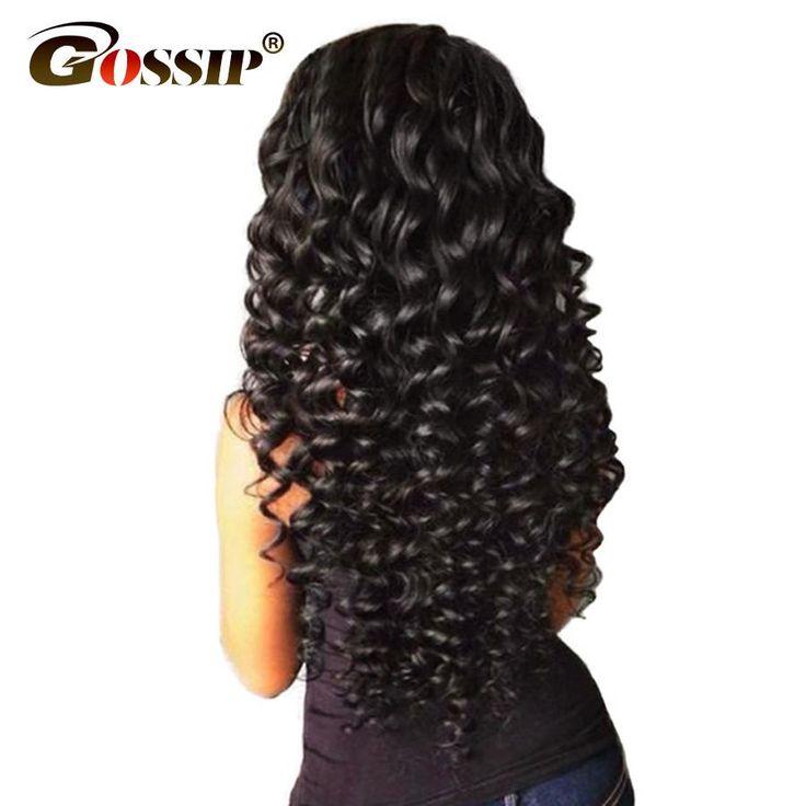 """Gossip Deep Wave Brazilian Hair Weave Bundles 100% Human Hair Bundles Natural Color 10""""-28"""" Double Weft Hair Extension Non Remy"""