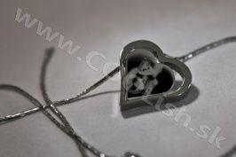 Darček Gravírovanie chirurgická oceľ-  dvojité srdce