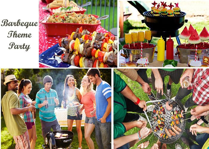 Barbecue Theme Party : Organize the barbecue party at the camp garden or sunlight area and get the fun of eating crispy grilled food. #birthdaypartytheme