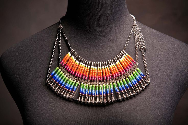 98 best images about safety pin jewelry on pinterest for Safety pin and bead crafts