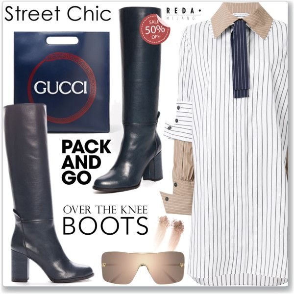 Pack and Go: Paris Fashion Week - Street Style Shirt Dress and Over Knee Boot