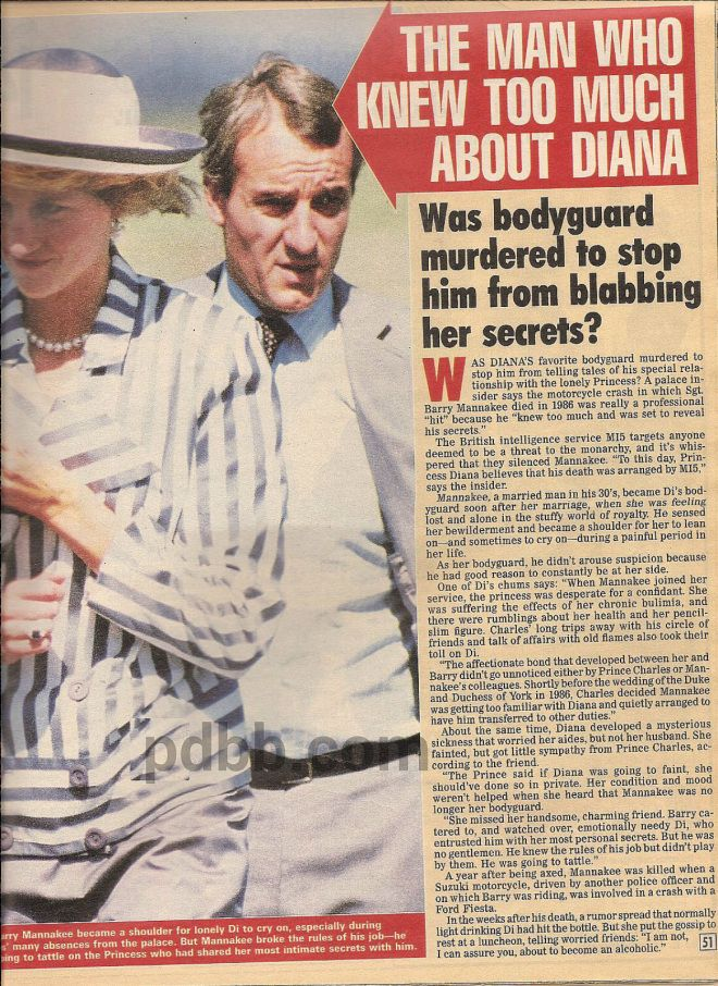 "Our Princess Diana News Article Today: ""The Man Who Knew Too Much About Diana"""